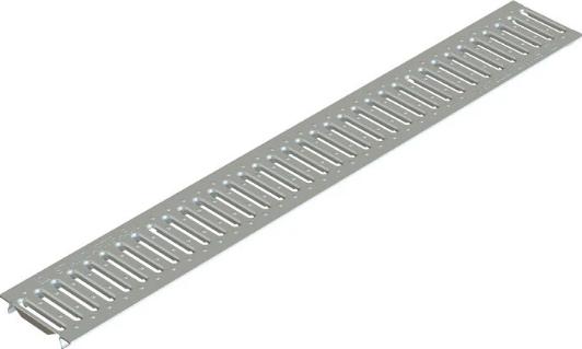 Купить Решетка водоприемная штампованная стальная оцинкованная Standartpark Basic РВ-10.14.100, 1000х136х3 мм — Фото №1