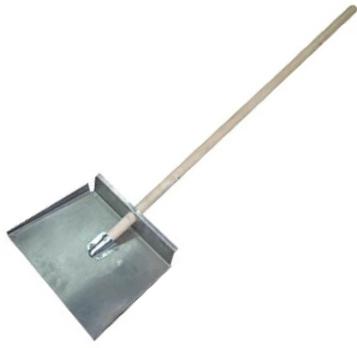 Купить Лопата снеговая стальная трехбортная Fit 68128, ширина 500 мм — Фото №1