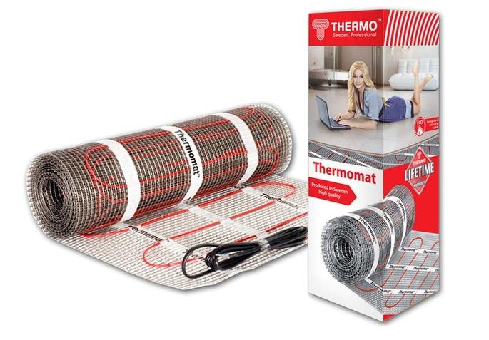 Теплый пол нагревательный мат Thermo Thermomat 2 кв.м 130 (260) Вт