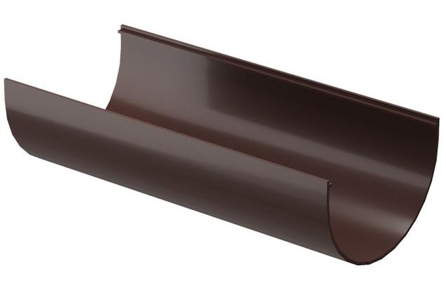 Купить Желоб водосточный ПВХ Docke Standard (темно-коричневый) 120/80 мм, длина 2 м — Фото №1