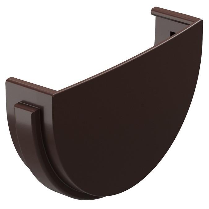 Купить Заглушка желоба ПВХ с уплотнителем Docke Standard (темно-коричневая) 120/80 мм — Фото №1