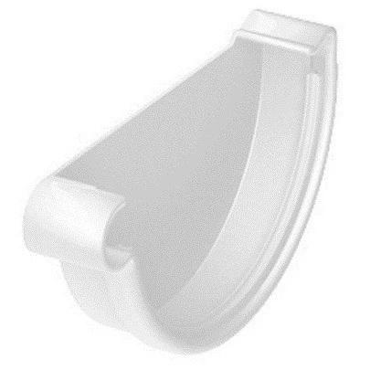 Заглушка желоба ПВХ Galeco RAL 9010 (белая) 124/80 мм, правая