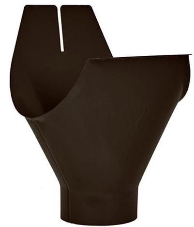 Купить Воронка желоба Aquasystem RR 32 (темно-коричневая), диаметр 125/90 мм — Фото №1