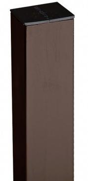 Столб для забора с заглушкой Grand Line RR 32 (коричневый), 2500х62х55 мм
