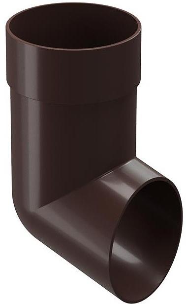 Купить Отвод водосточной трубы Docke Standard (темно-коричневый), диаметр 120/80 мм — Фото №1