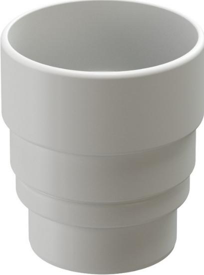 Купить Переходник ПВХ Docke Lux (пломбир), диаметр 141/100 мм — Фото №1