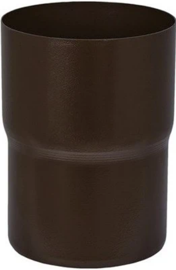 Купить Соединитель водосточной трубы Aquasystem RR 32 (темно-коричневый), диаметр 125/90 мм — Фото №1