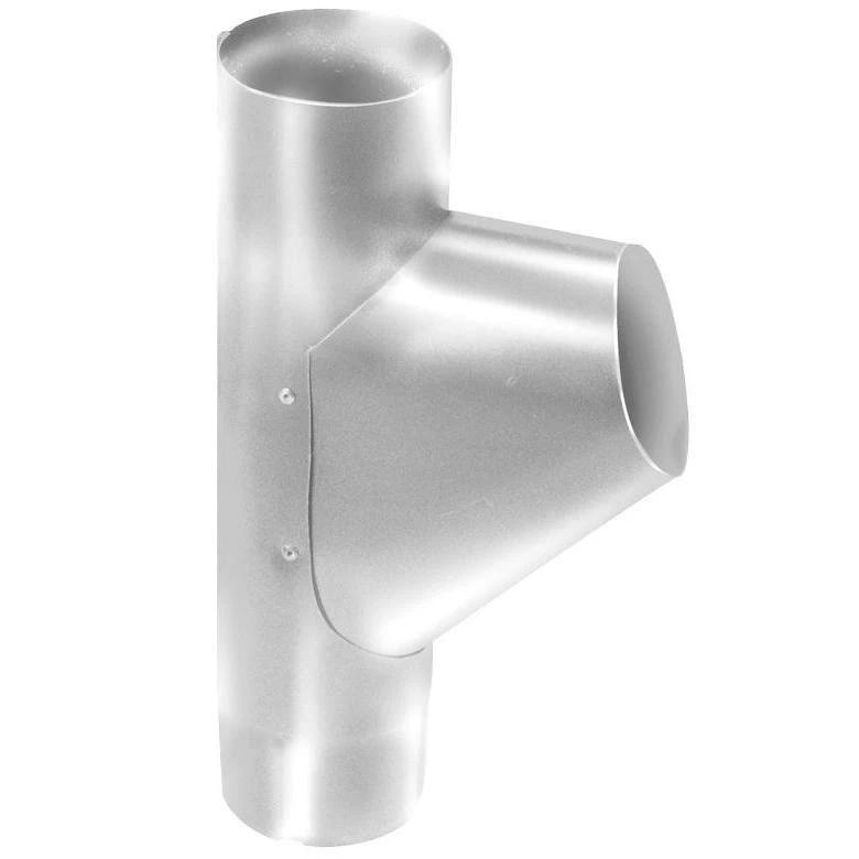 Купить Тройник водосточной трубы оцинкованный Grand Line RAL 9003 (белый), диаметр 125/90 мм — Фото №1