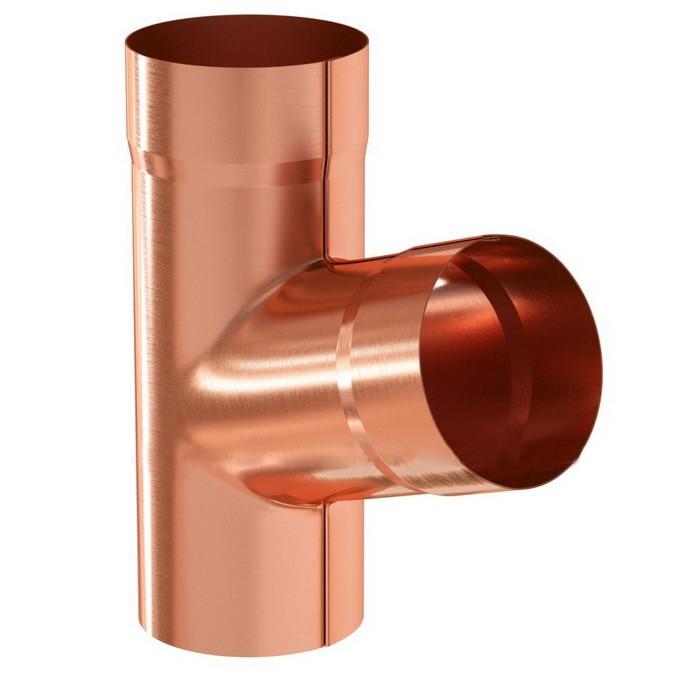 Купить Тройник водосточной трубы медный Aquasystem, диаметр 150/100 мм — Фото №1