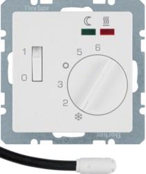 Терморегулятор теплого пола Berker Q.1  с датчиком пола, полярная белизна