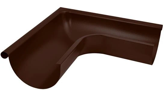 Купить Угол желоба внешний 90° Aquasystem RAL 8017 (коричневый), диаметр 150/100 мм — Фото №1