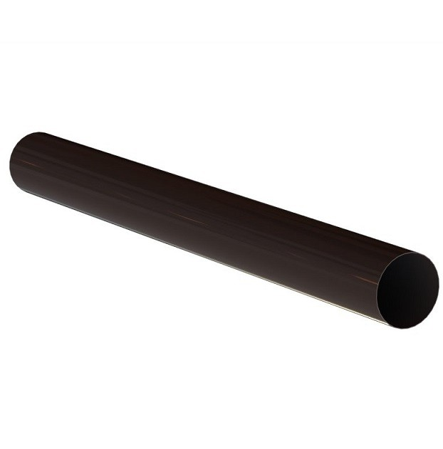 Труба водосточная алюминиевая Linkor RAL 8019 (темно-коричневая) 100 мм, длина 3 м