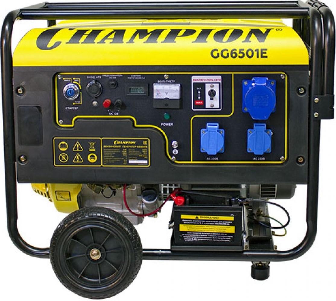 Купить Генератор бензиновый Champion GG6501E+ATS — Фото №1