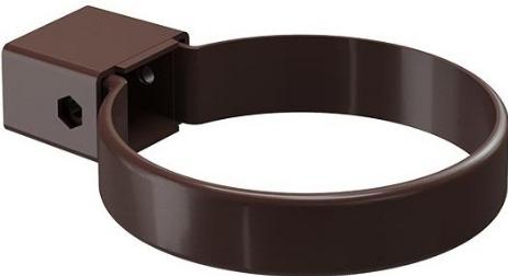 Купить Хомут водосточной трубы Docke Standard ПВХ (темно-коричневый), диаметр 120/80 мм — Фото №1