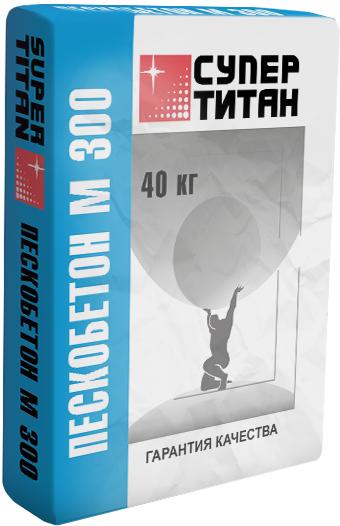 Купить Пескобетон Супер Титан М300 мелкозернистый, 40 кг — Фото №1