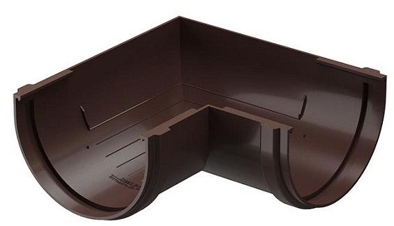 Купить Угол желоба универсальный 90° Docke Standard (темно-коричневый), диаметр 120/80 мм — Фото №1