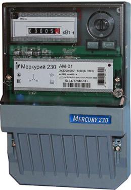 Счетчик электроэнергии трехфазный однотарифный Инкотекс Меркурий 230 АМ-03