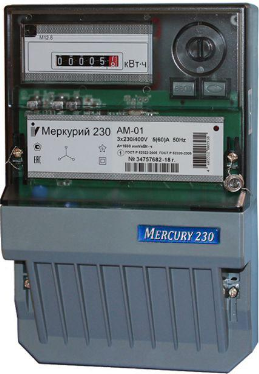 Счетчик электроэнергии трехфазный однотарифный Инкотекс Меркурий 230 АМ-02