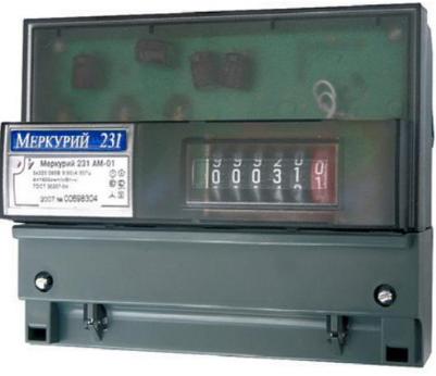 Счетчик электроэнергии трехфазный однотарифный Инкотекс Меркурий 231 АМ-01