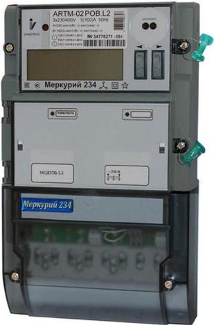 Счетчик электроэнергии трехфазный многотарифный Инкотекс Меркурий 234 ARTM-03 PB.G