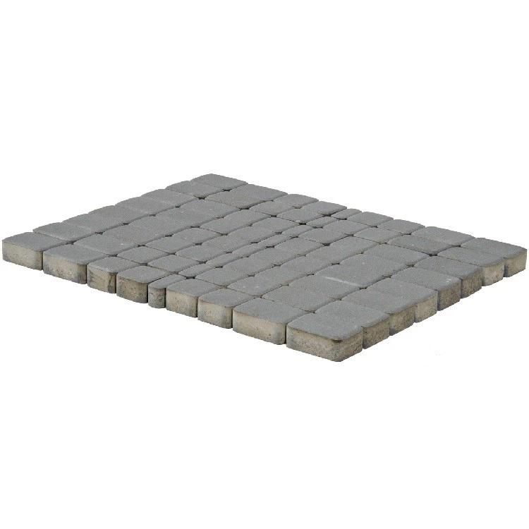 Плитка тротуарная Braer Классико мультиформатная (серая), 60 мм