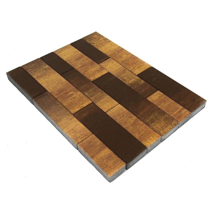 Купить Плитка тротуарная Braer Домино Color Mix мультиформатная (сафари), 60 мм — Фото №1
