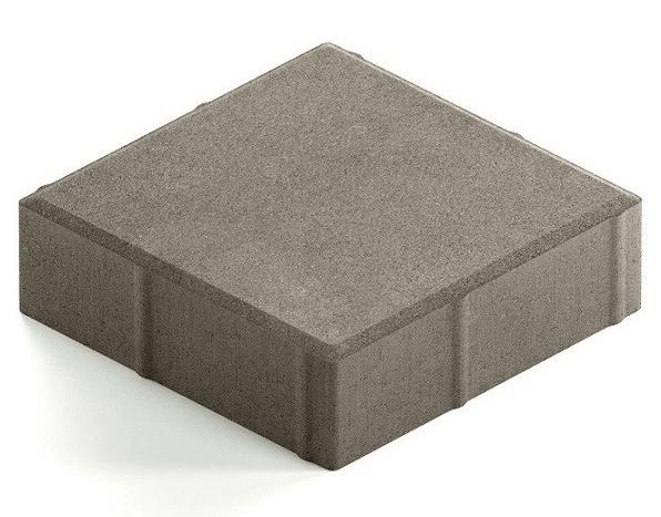 Steingot Практик 60, 200х200х60 мм, Плитка тротуарная квадратная полный прокрас серая