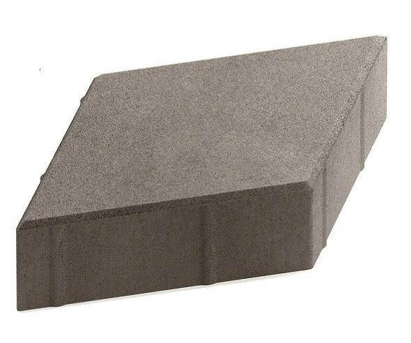 Steingot Практик 60, 200х200х60 мм, Плитка тротуарная ромбовидная полный прокрас серая