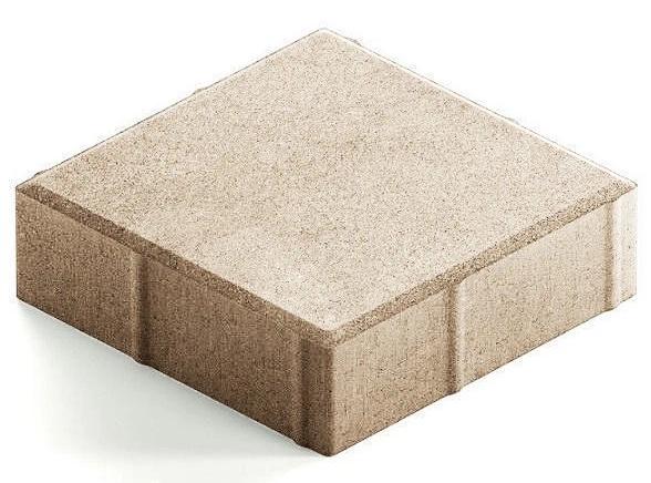 Steingot Практик 60, 200х200х60 мм, Плитка тротуарная квадратная полный прокрас белая