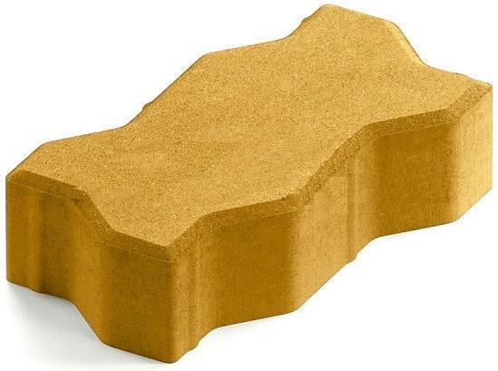 Steingot Практик 60, 225х112.5х60 мм, Плитка тротуарная зигзагообразная полный прокрас желтая