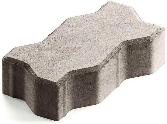 Steingot Практик 60, 225х112.5х60 мм, Плитка тротуарная зигзагообразная полный прокрас белая