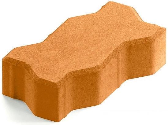 Steingot Практик 60, 225х112.5х60 мм, Плитка тротуарная зигзагообразная полный прокрас оранжевая