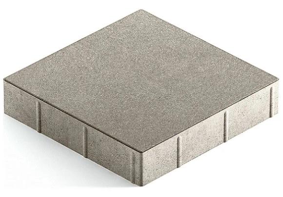 Steingot Практик 60, 300х300х60 мм, Плитка тротуарная квадратная полный прокрас светло-серая
