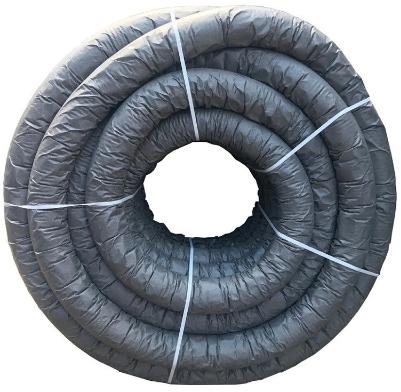 Купить Труба дренажная одностенная перфорированная с геотканью М-100 Nashorn N ПНД, 110 мм — Фото №1