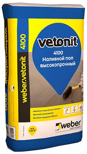 Купить Наливной пол самовыравнивающийся Weber.Vetonit 4100, 20 кг — Фото №1