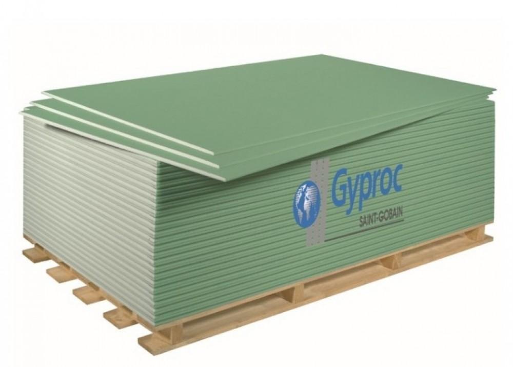 Купить Гипсокартон влагостойкий ГКЛВ Gyproc Аква Оптима, 2500х1200х12.5 мм — Фото №1