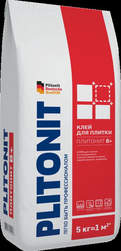 Купить Клей для плитки Plitonit В+, 5 кг — Фото №1