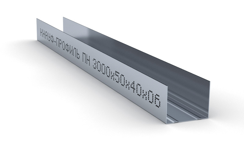 Купить Профиль направляющий ПН-2 50х40х0.6 мм Кнауф, 3 м — Фото №1