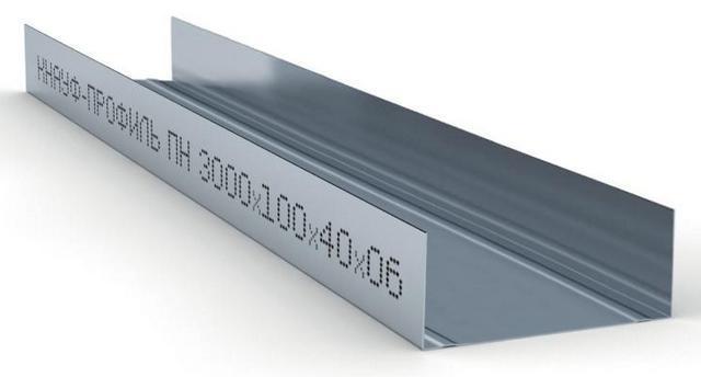 Купить Профиль направляющий ПН-6 100х40х0.6 мм Кнауф, 3 м — Фото №1