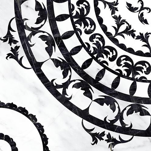 Cersanit Oriental OE6R442DT декор для плитки (черно-белый), 42x42 см