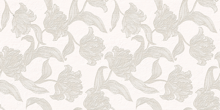 Azori Mallorca Beige Floris плитка настенная (бежевая), 31.5х63 см