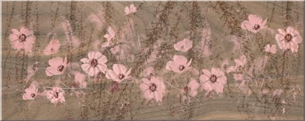 Azori Авелано Космея 582842002 декор для плитки (бежевый), 50.5х20.1 см
