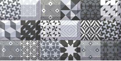 Azori Вог 583012010 Пазл декор для плитки (черно-серый), 40.5х20.1 см