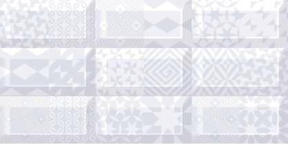 Azori Вог 583012009 Пазл лайт декор для плитки (черно-серый), 40.5х20.1 см