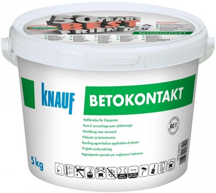 Купить Грунтовка для бетона акриловая Knauf Betokontakt, 5 кг — Фото №1