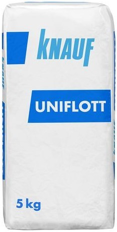 Купить Шпатлевка гипсовая высокопрочная Knauf Унифлот (белая), 5 кг — Фото №1