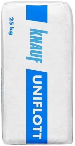 Купить Шпатлевка гипсовая высокопрочная Knauf Унифлот (белая), 25 кг — Фото №1