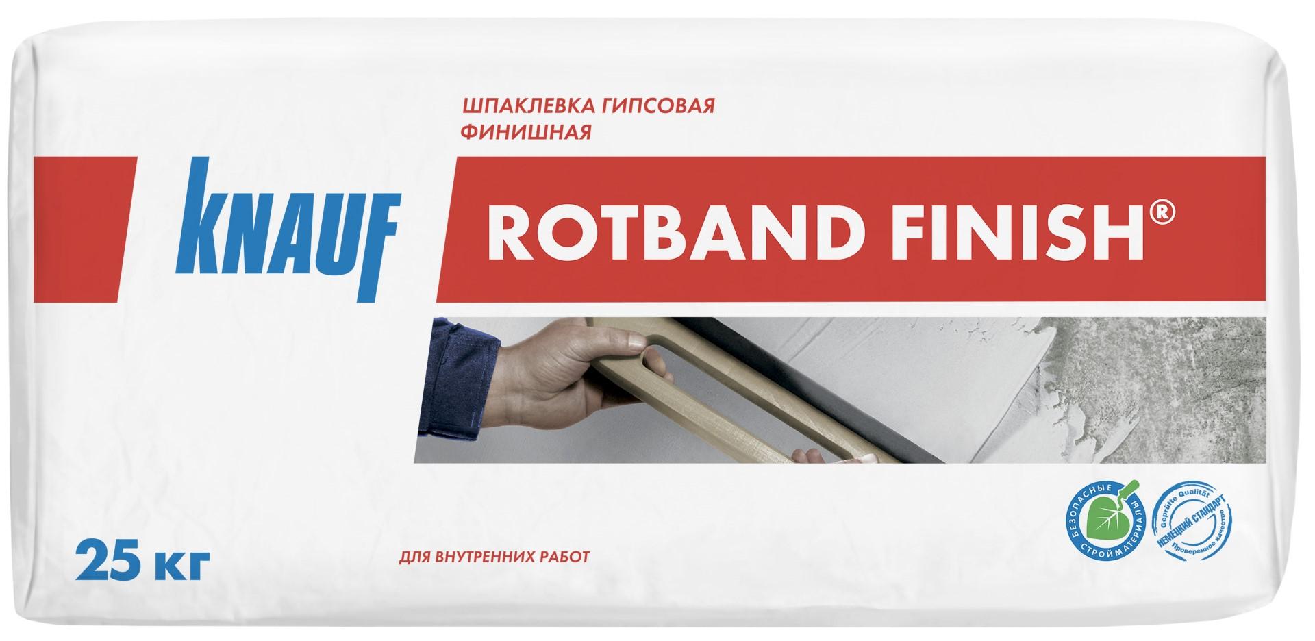 Купить Шпатлевка гипсовая Knauf Ротбанд Финиш (белая), 25 кг — Фото №1