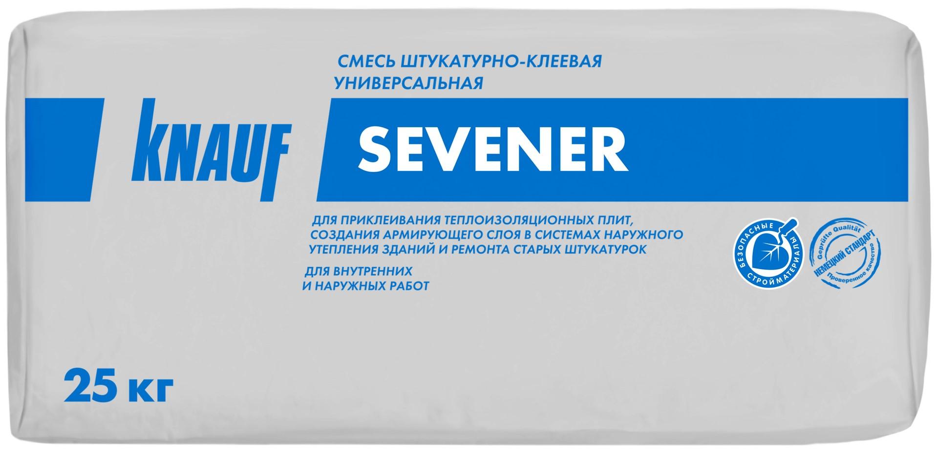 Купить Штукатурно-клеевая смесь Knauf Севенер, 25 кг — Фото №1