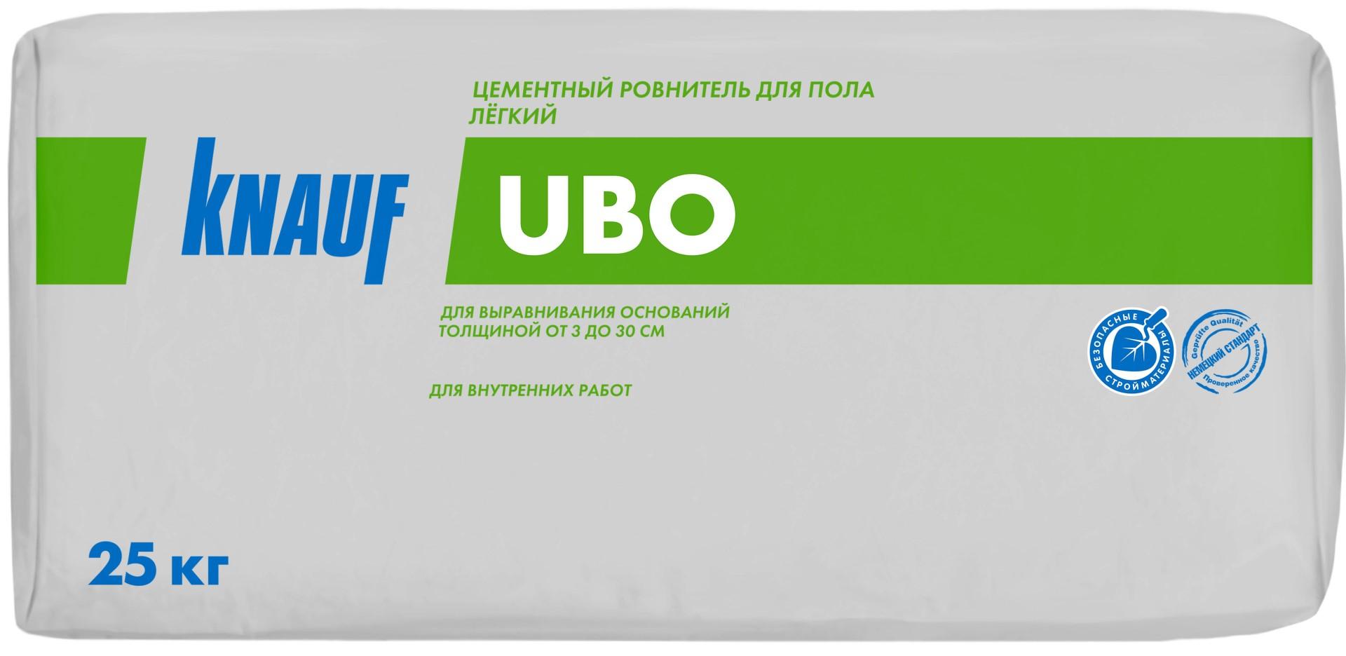 Купить Стяжка пола лёгкая Knauf Убо, 25 кг — Фото №1